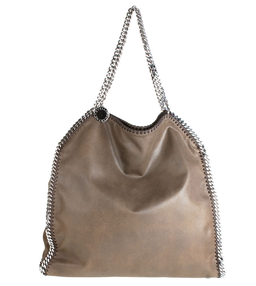stella mccartney falabella large faux leather brown shoulder bag in brown lyst. Black Bedroom Furniture Sets. Home Design Ideas