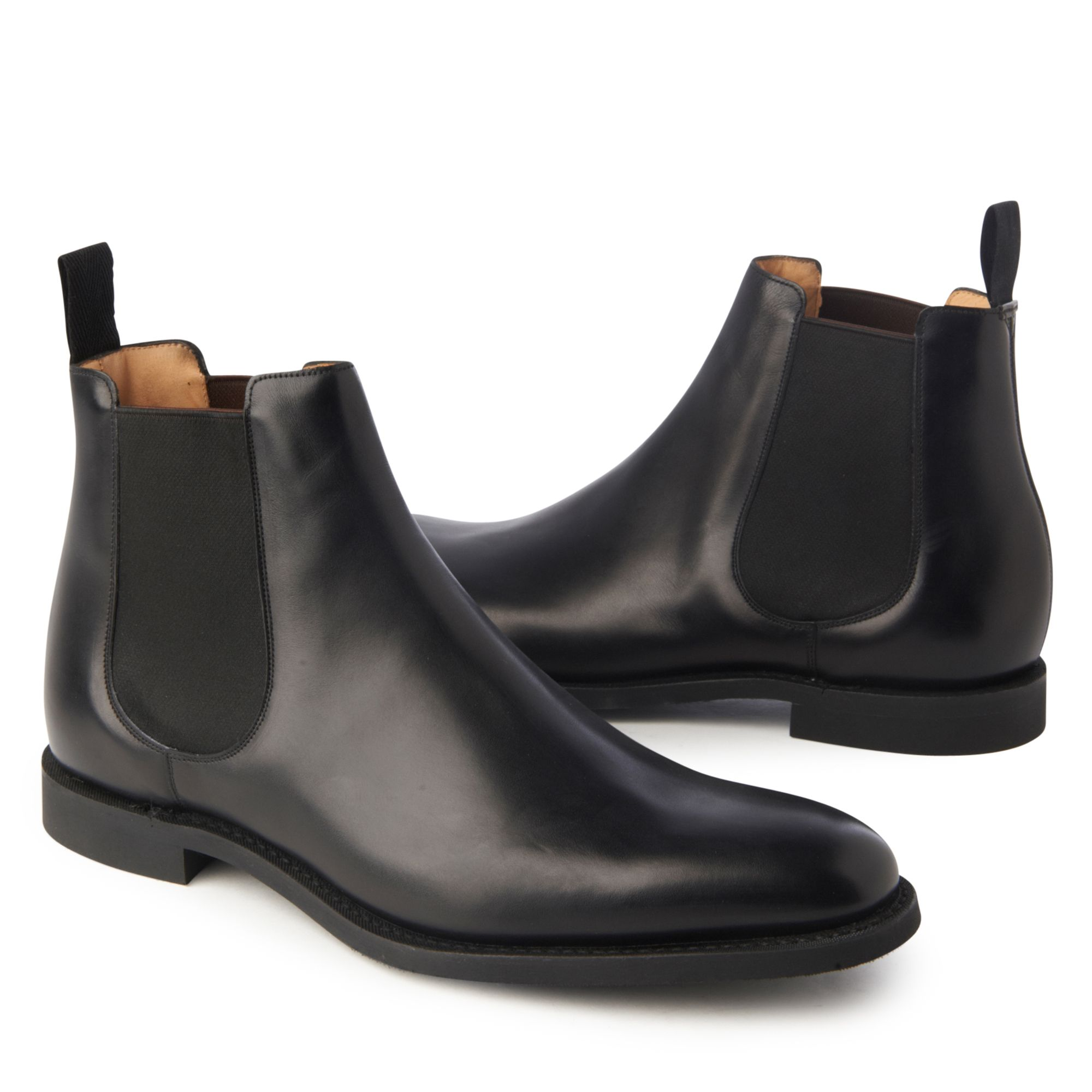church 39 s ely leather chelsea boots in black for men lyst. Black Bedroom Furniture Sets. Home Design Ideas