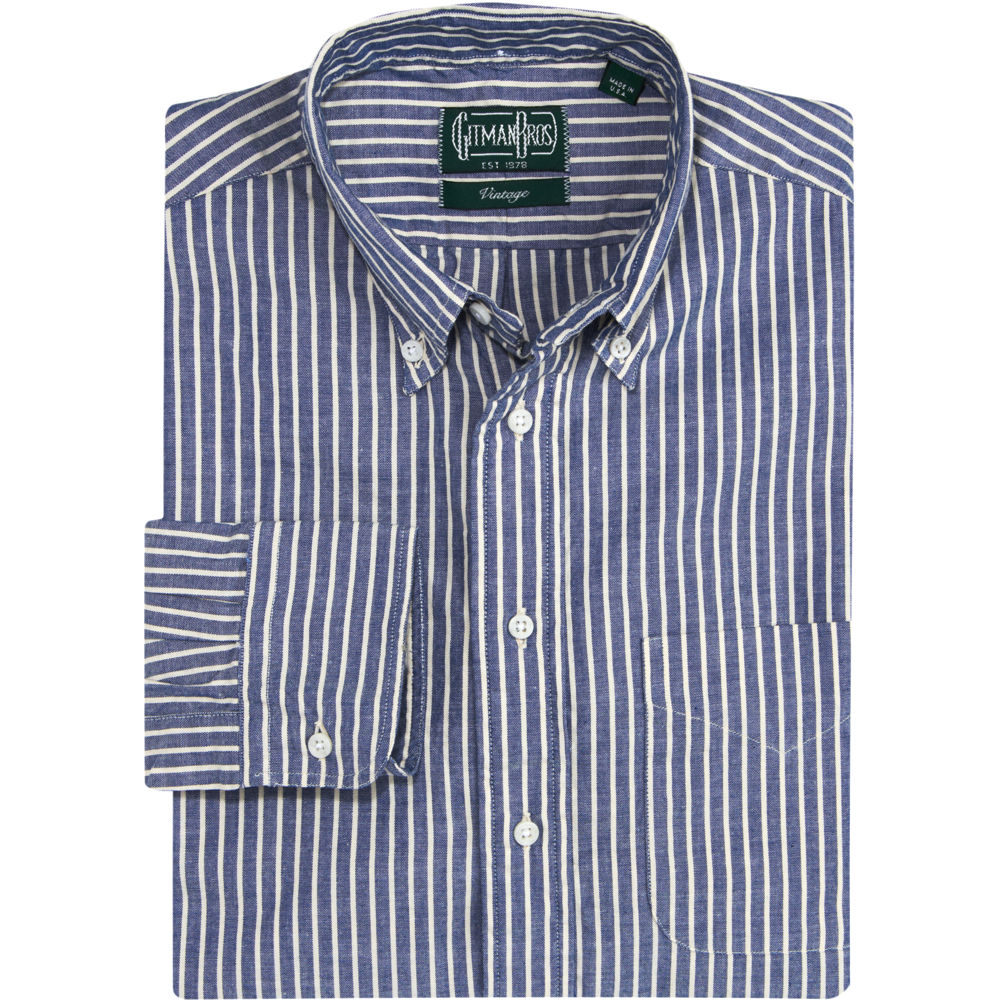 Gitman Brothers Vintage Striped Sport Shirt In Blue For