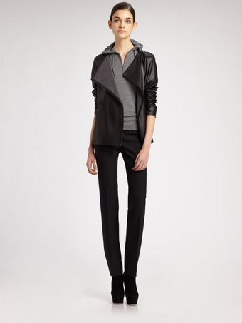Akris Punto Nappa Leather Jacket - Lyst