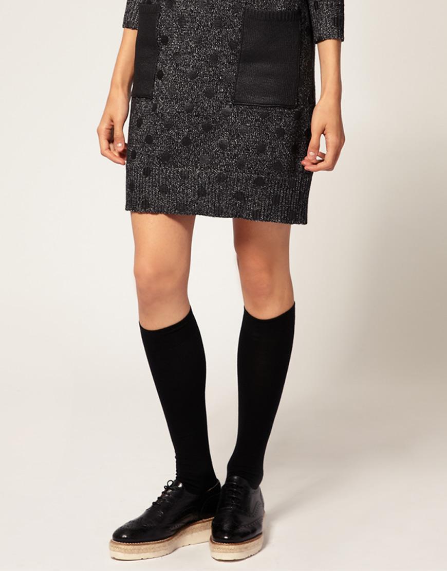 8c7446499a2 Lyst - Falke Soft Merino Knee High Socks in Black