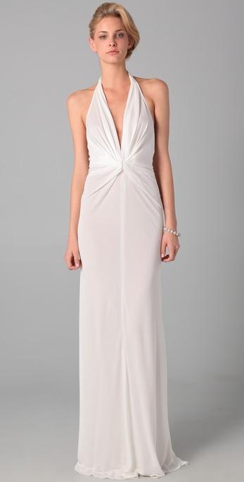 Lyst Issa Long Halter Dress In White