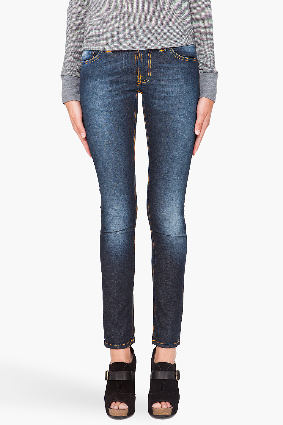 Lyst - Nudie Jeans Tight Long John Dark Jeans in Blue b4449c0f8