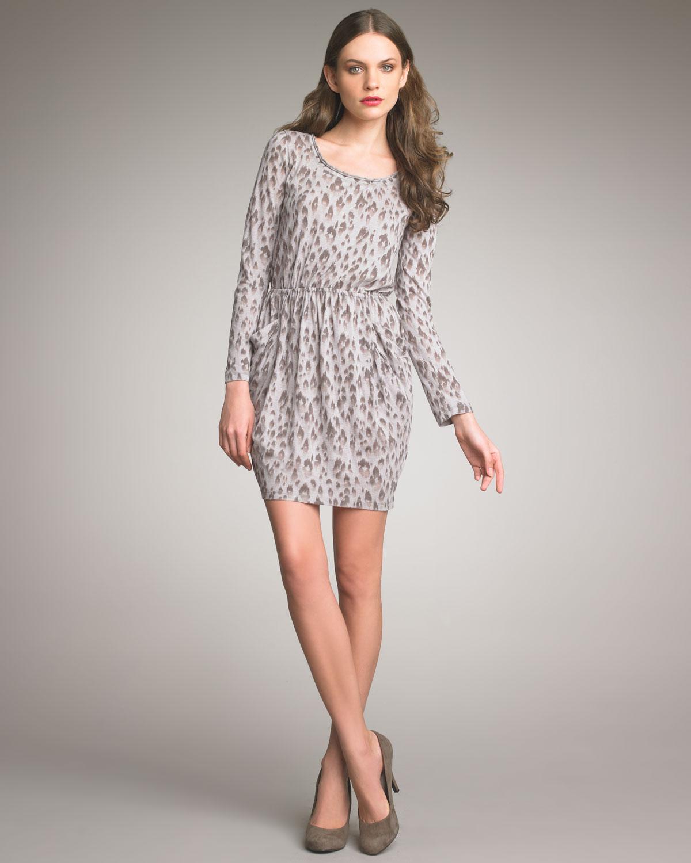 68f8fefa8d4 Rebecca Taylor Silk Leopard-print Dress - Lyst