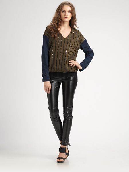 Sachin & Babi Faux Leather Zucko Pants in Black (jet)