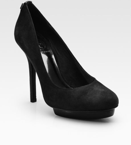 Tory Burch Mandy Suede Highheel Pumps in Black - Lyst