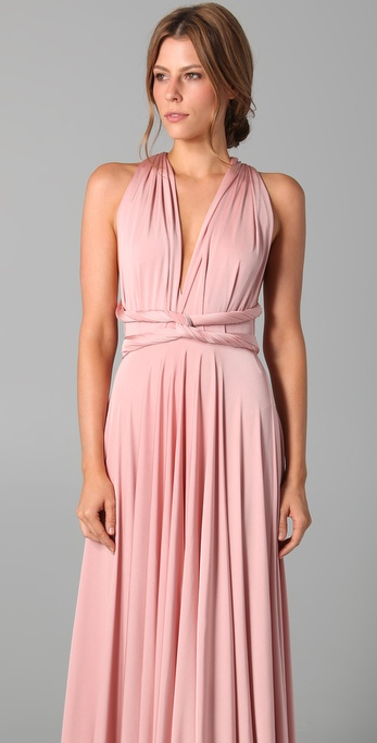 Twobirds Long Convertible Dress In Blush Pink Lyst