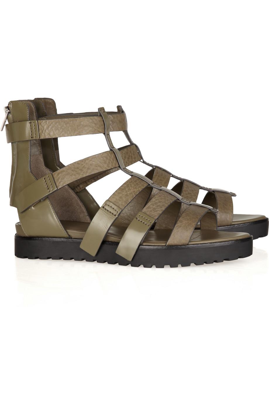3a08d2e81b1c Lyst - Alexander Wang Saskia Leather Gladiator Sandals in Metallic