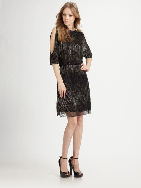 Alice + Olivia Catalina Cut-out Dress in Black