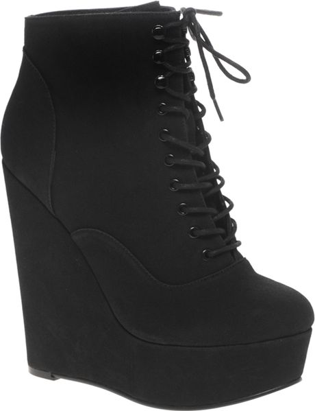 Asos Asos Ablaze Super High Wedge in Black