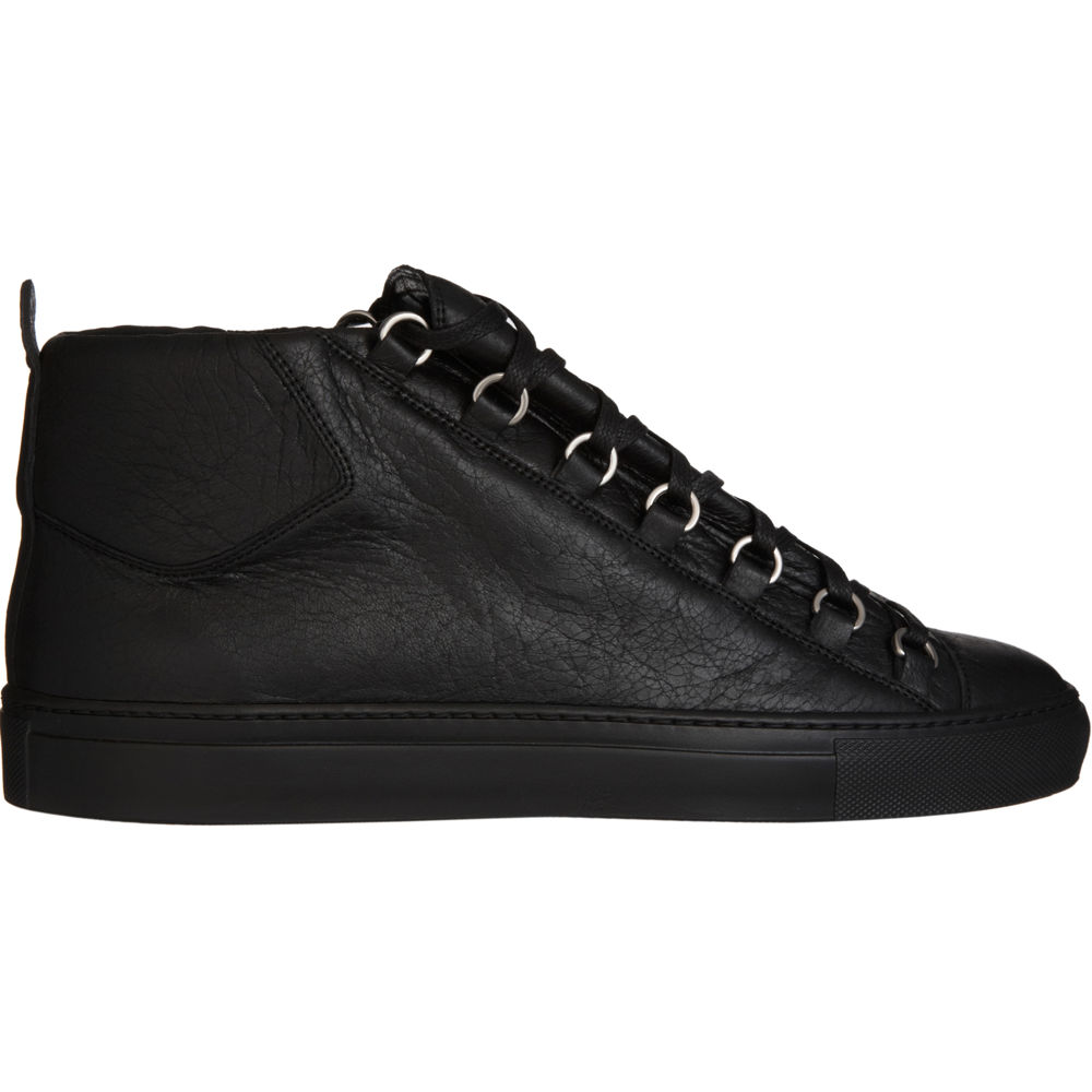 balenciaga arena high top sneaker in black for men lyst. Black Bedroom Furniture Sets. Home Design Ideas