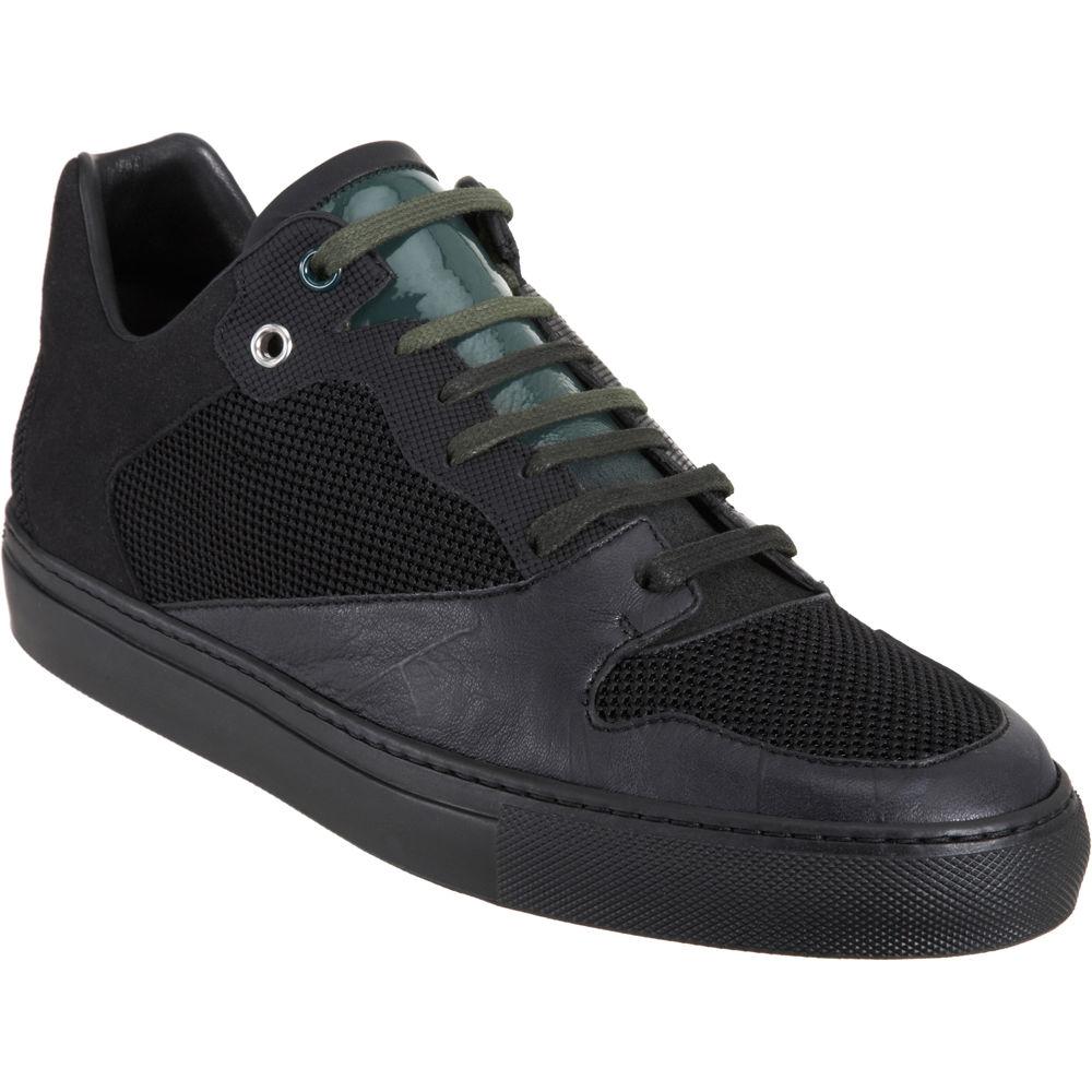 lyst balenciaga low top sneaker in black for men. Black Bedroom Furniture Sets. Home Design Ideas