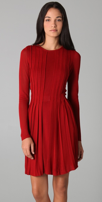 Camilla & marc Little Scarlet Pleated Dress in Red | Lyst