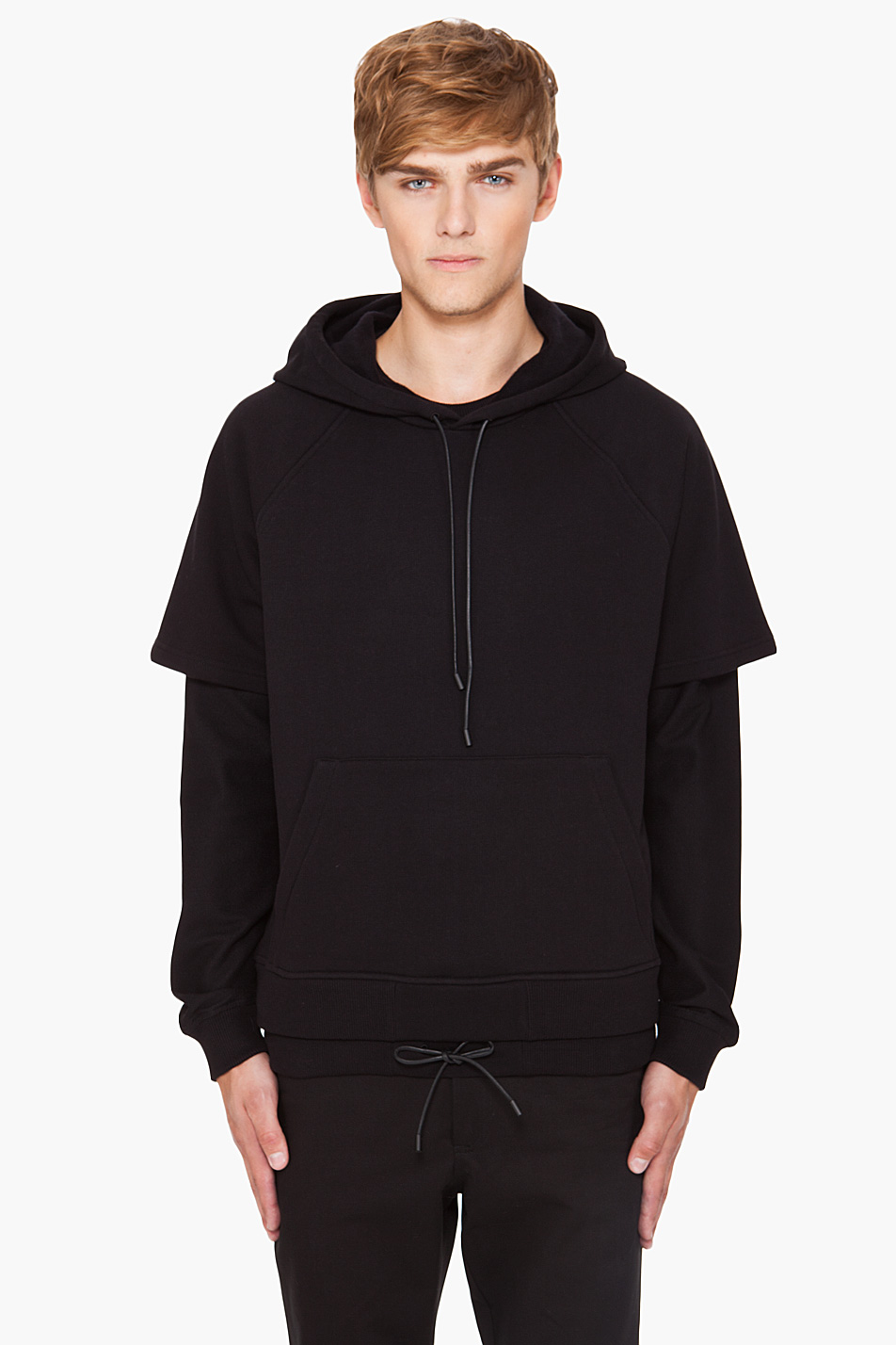 excellent double hoodie outfit black