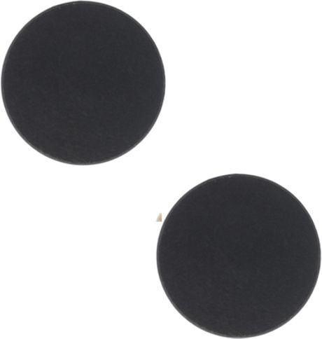 river island circle earrings in black for lyst