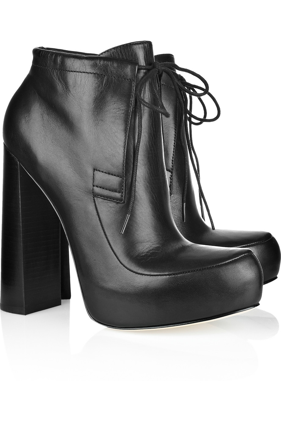 1f8754dd41d8 Lyst - Alexander Wang Constance Leather Platform Ankle Boots in Black