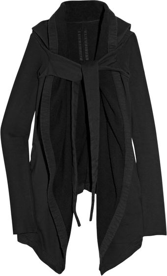 DRKSHDW by Rick Owens Hooded Cotton-fleece Jacket - Lyst
