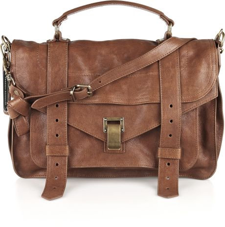 Proenza Schouler Ps1 Large Leather Satchel in Brown (chestnut)