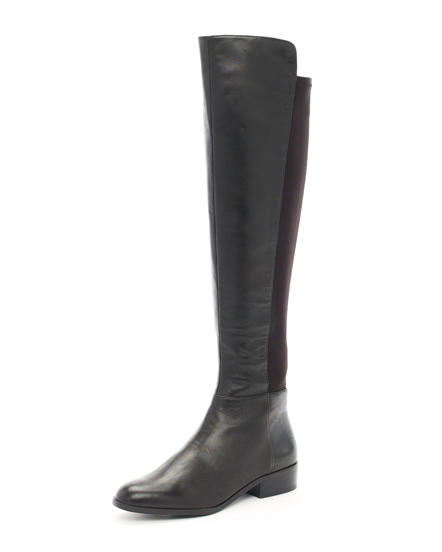 michael michael kors bromley otk flat boot in black lyst