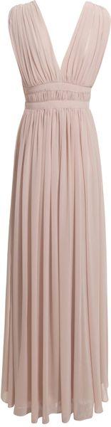 Reiss Grecian Style Maxi Dress In Pink Blush Lyst