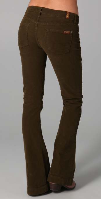 7 For All Mankind Jiselle Corduroy Flare In Brown Lyst