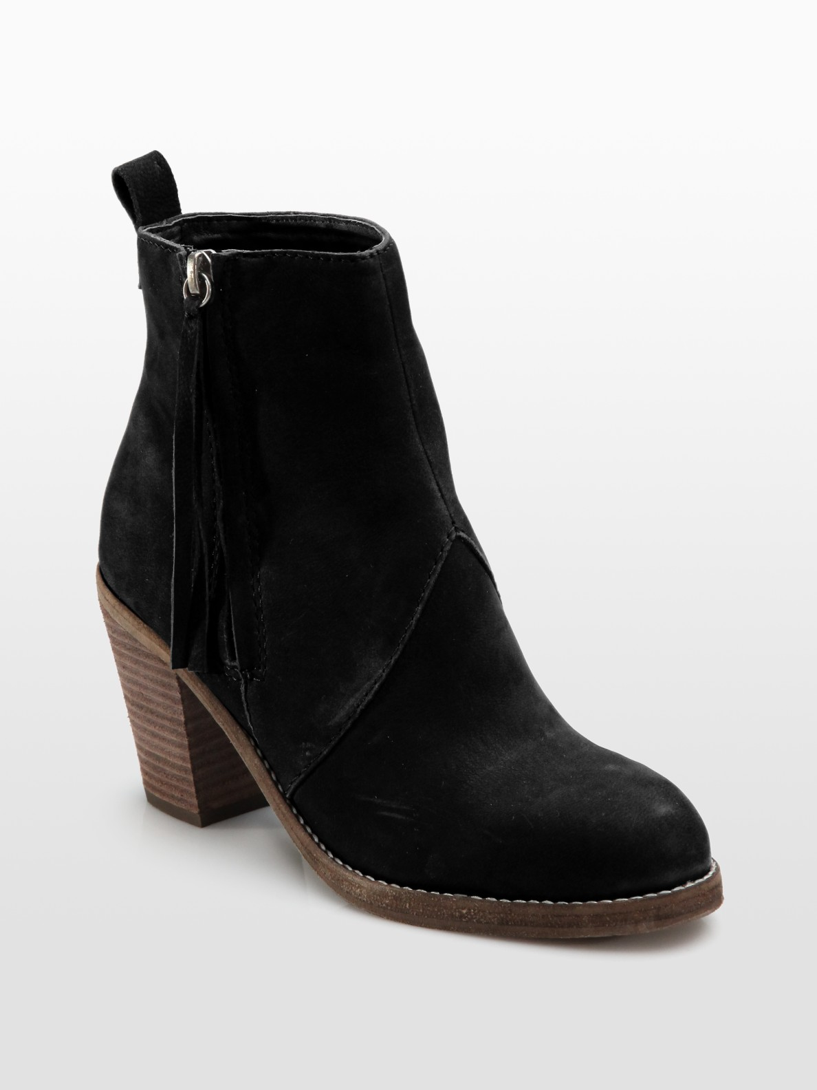dolce vita jax ankle boots in brown brown nubuck lyst