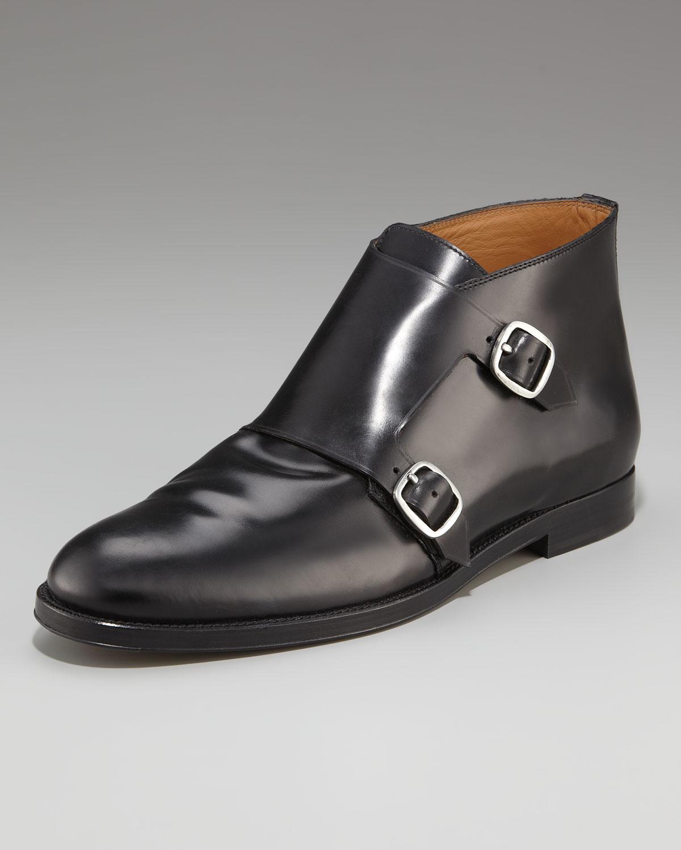 Jimmy Choo Double Monk-strap Boot in Black for Men | Lyst