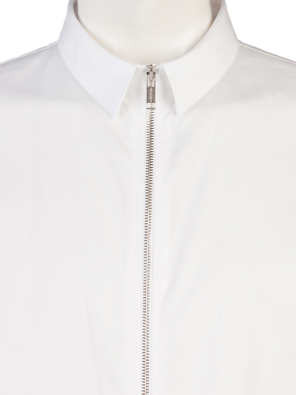 kris van assche zip up dress shirt in white for men lyst