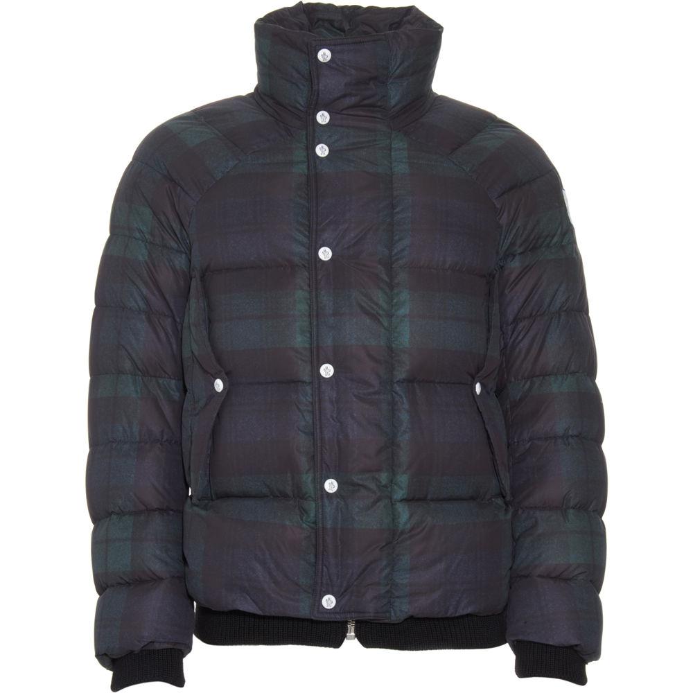 Moncler Plaid Puffer Coat In Green For Men Black Lyst