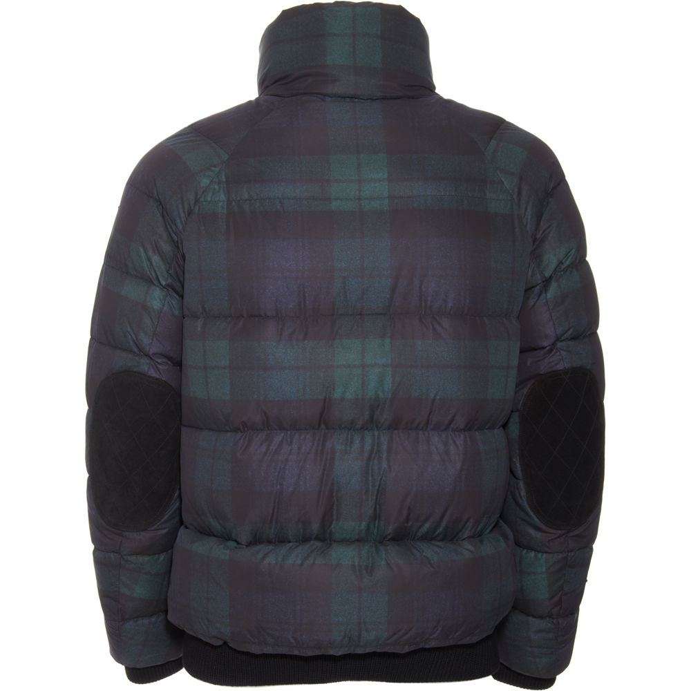 Moncler Plaid Puffer Coat In Green For Men Lyst
