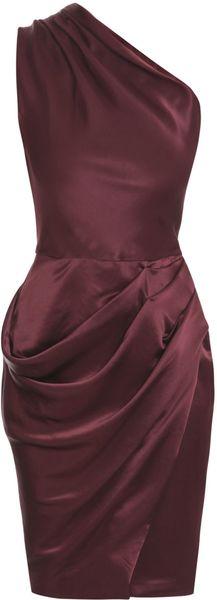 Roksanda Ilincic One-shouldered Dress in Purple (burgundy) - Lyst