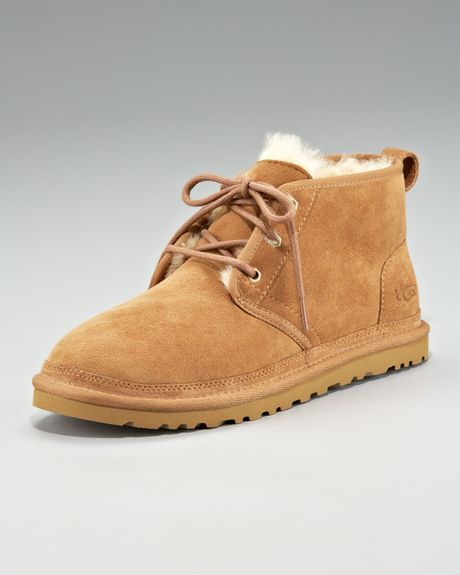 ugg neumel suede desert boot in brown for chestnut