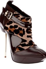 Versace Pony Skin Ankle Boot