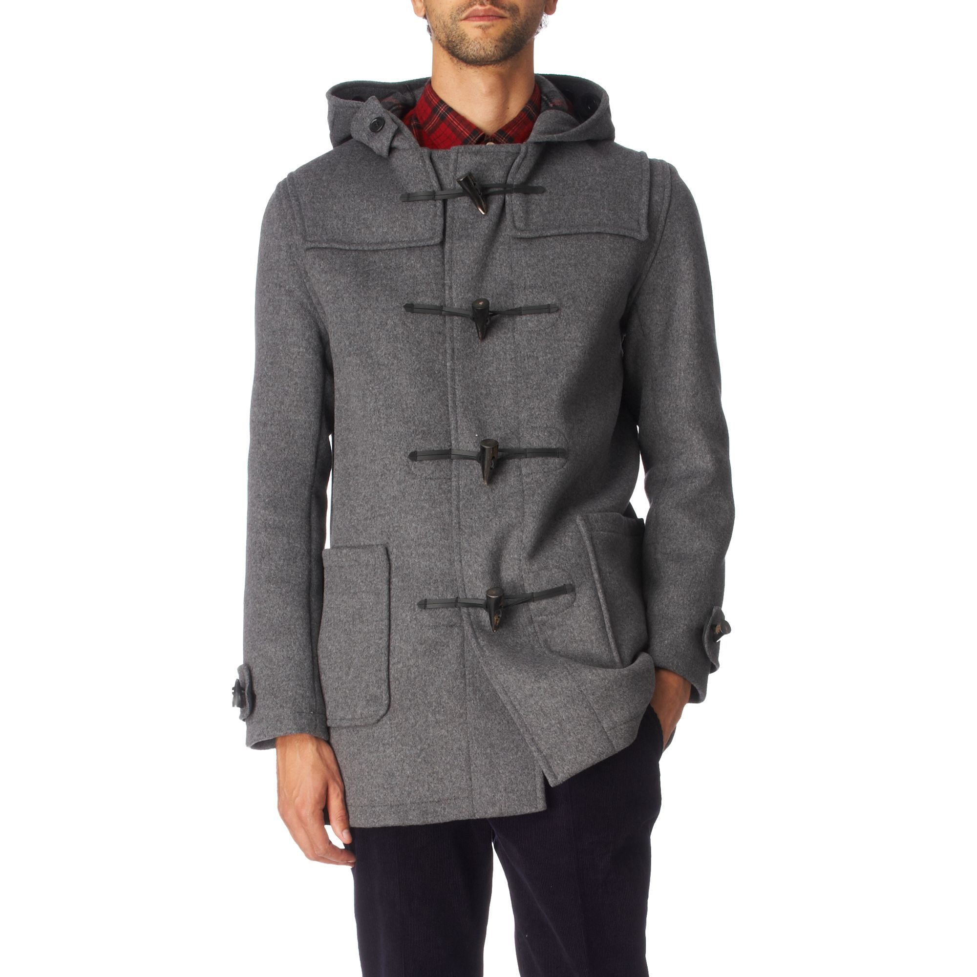 Gloverall Duffle Coat in Gray for Men - Lyst