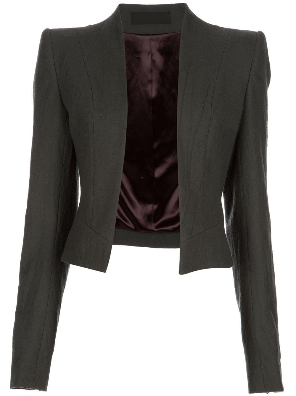 Grey Short Jacket - My Jacket