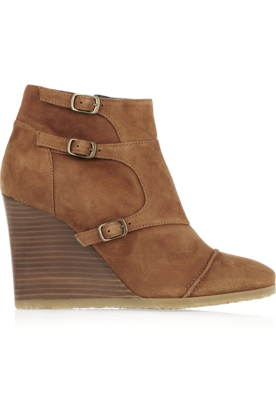 Lyst - Jcrew Greer Suede Wedge Ankle Boots In Brown-2464