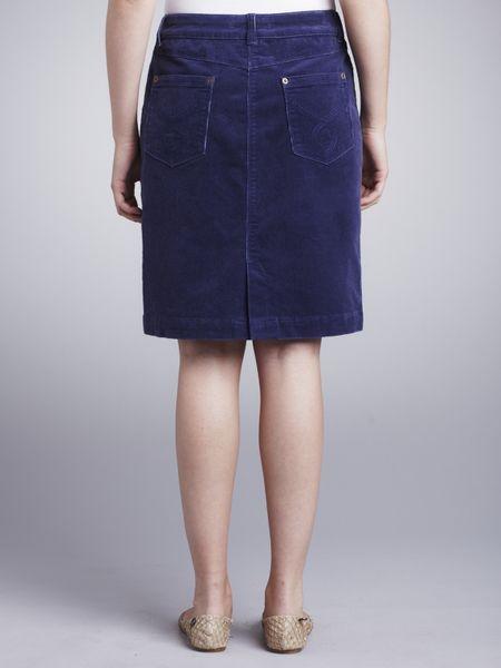 Blue Corduroy Skirt 49