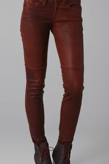 Rag & Bone Skinny Leather Pants - Lyst