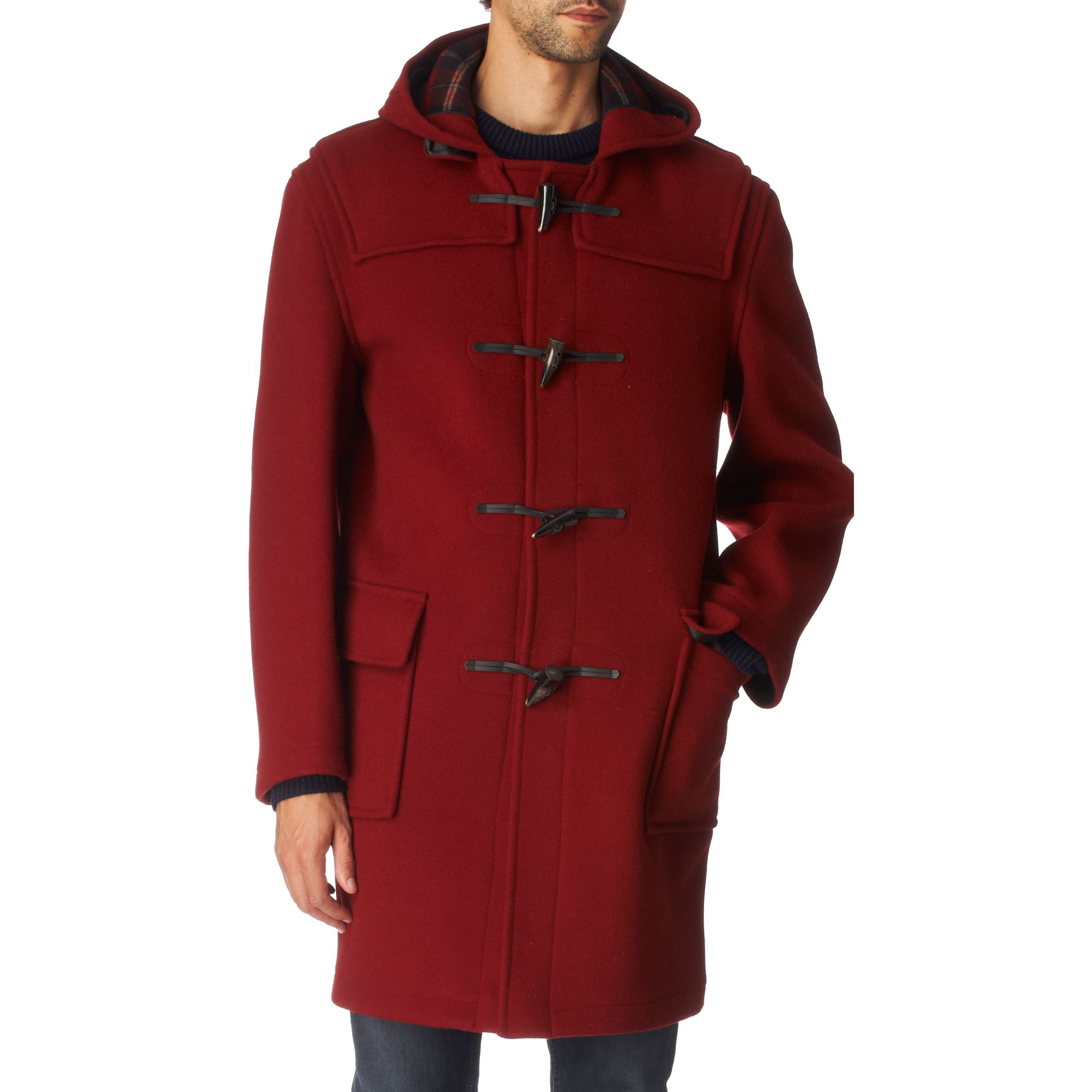 Gloverall Classic 512 Duffle Coat in Red for Men ...