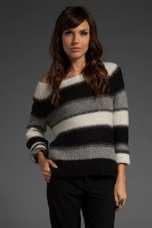 Alice + Olivia Striped Alpaca Sweater - Lyst