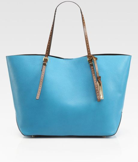 michael kors east to west tote bag in blue turquoise lyst