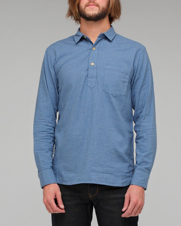 Ymc Pullover Chambray Shirt in Blue for Men | Lyst