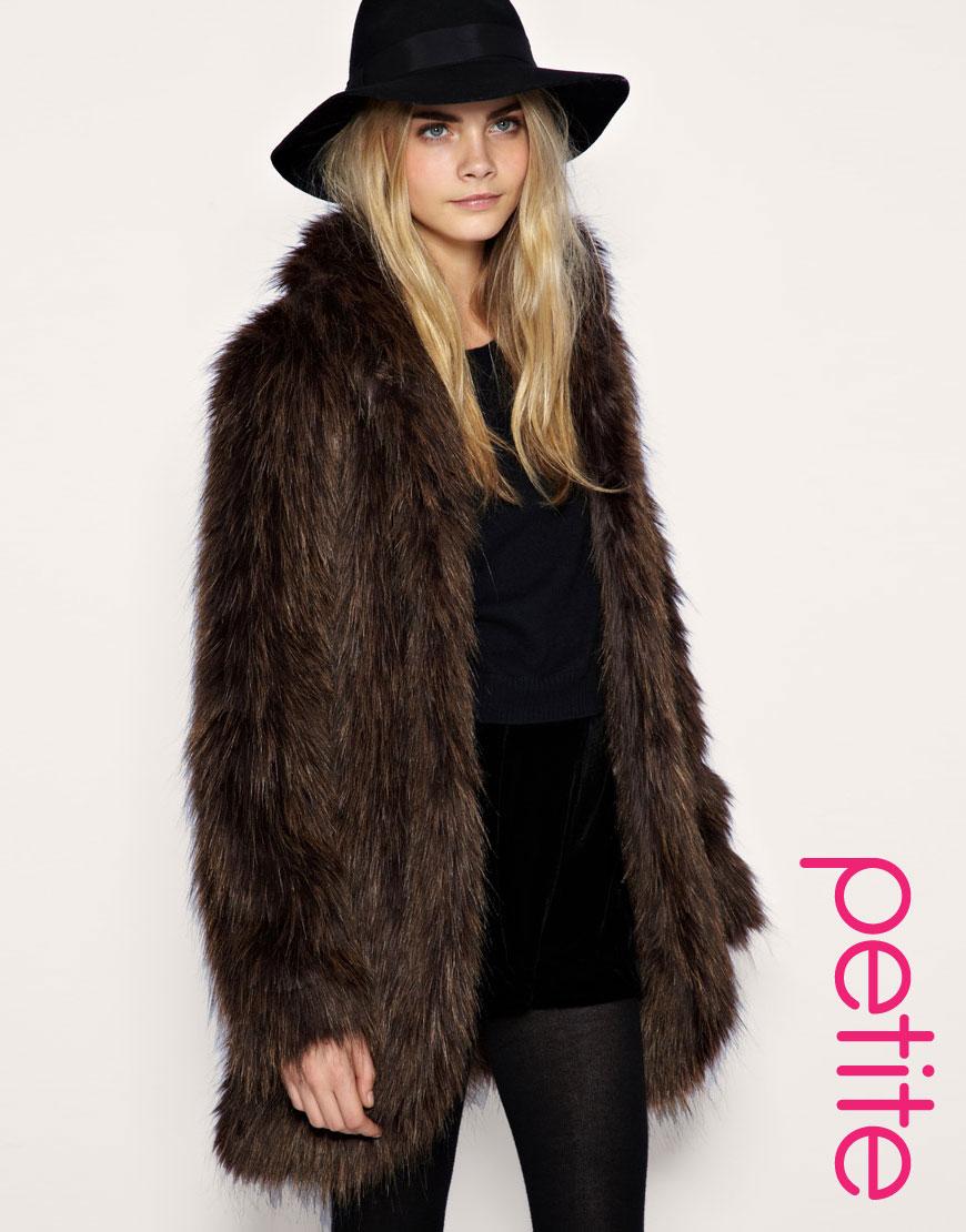 Chocolate Brown Faux Fur Coat
