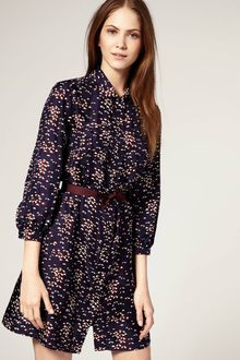 Boutique By Jaeger Umbrella Print Silk Shirt Dress - Lyst