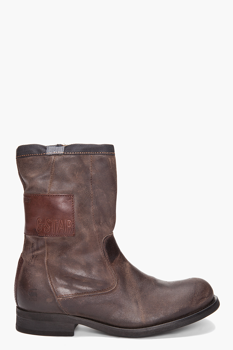 g star raw vanguard arc zip boot in brown for men lyst. Black Bedroom Furniture Sets. Home Design Ideas