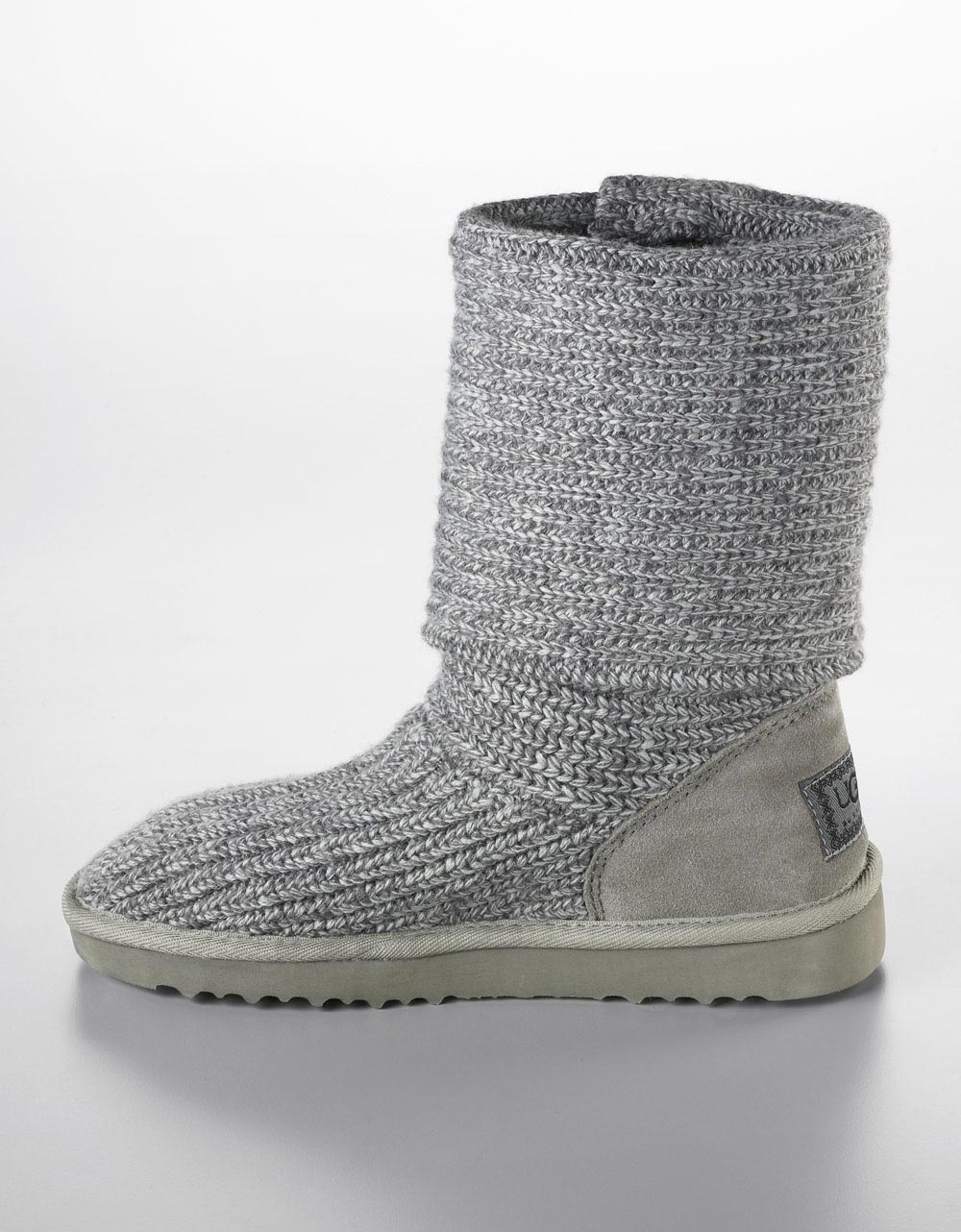 Ugg Wool Classic Cardy Boots In Gray Lyst