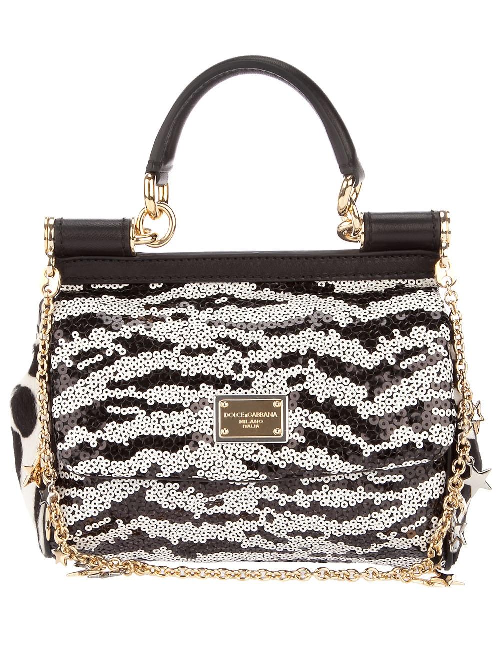 Dolce & Gabbana Sequin foldover shoulder bag IYEZ2mJ1a