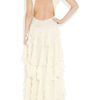 Matthew Williamson Backless Silkchiffon Gown in White (ivory) - Lyst