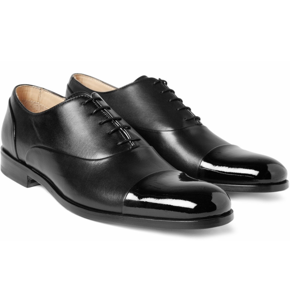 29dbed686e23 Mr. Hare Miller Patent Toe Cap Shoes in Black for Men - Lyst