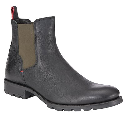 tommy hilfiger carlos 2a leather chelsea boots black in. Black Bedroom Furniture Sets. Home Design Ideas